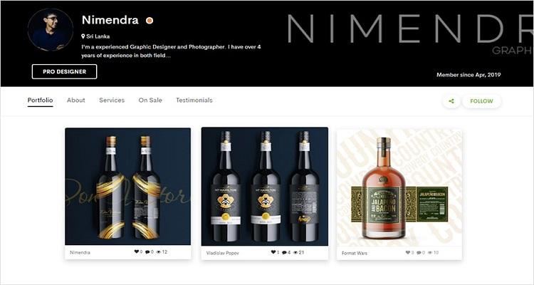 Unique Wine Label Design