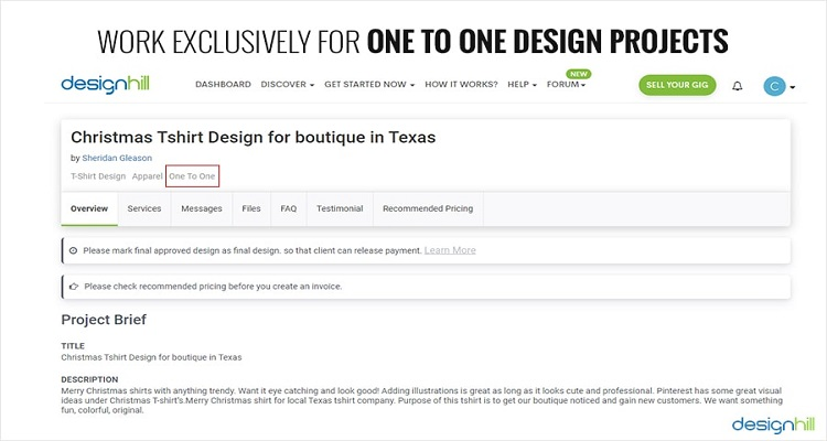 One To One Design Projects