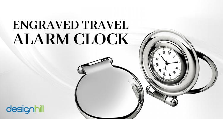 Engraved Travel Alarm Clock
