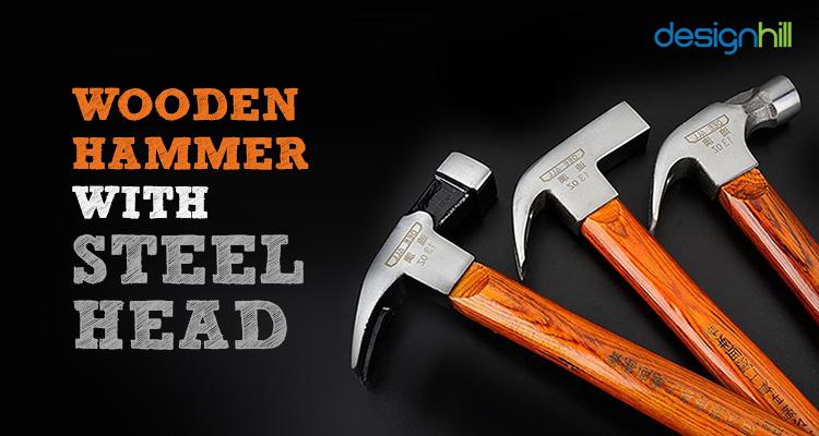 Wooden Hammer With Steel Head