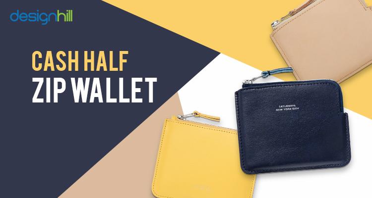 Cash Half Zip Wallet