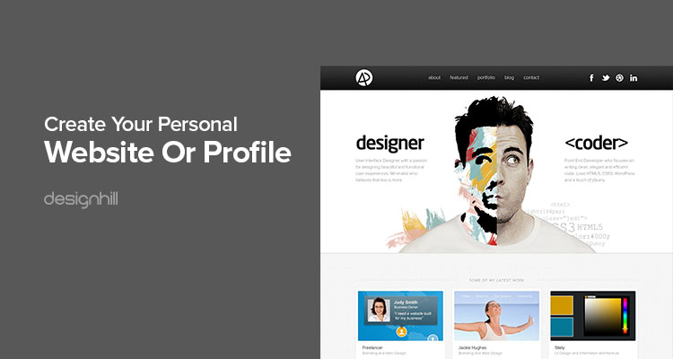 Create Your Personal Website Or Profile