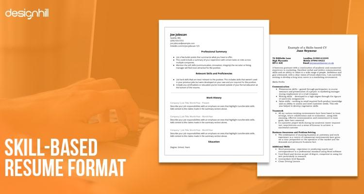 Skill-Based Resume Format