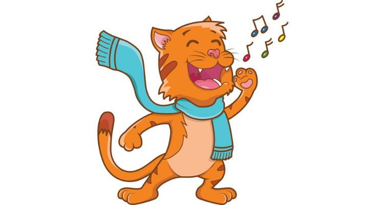 Singing Cat Cartoon