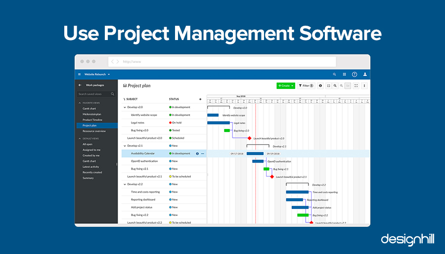 Use Project Management Software