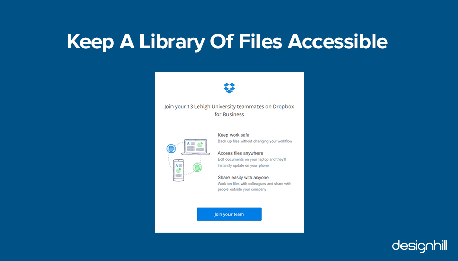 Keep A Library Of Files Accessible