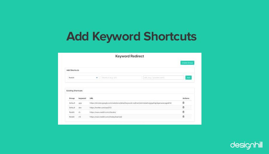 Add Keyword Shortcuts