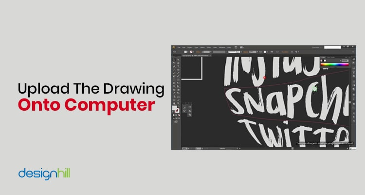 Upload The Drawing Onto Computer
