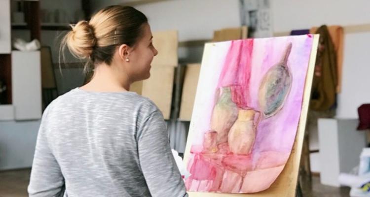 Arina Making Art