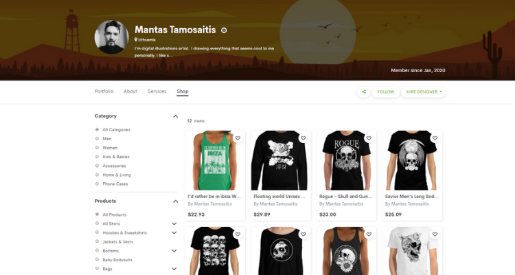 Mantas Tamosaitis Shop
