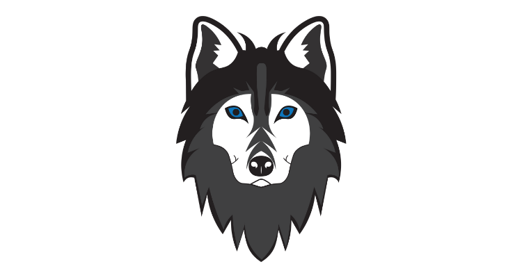 Black & White Wolf Artwork