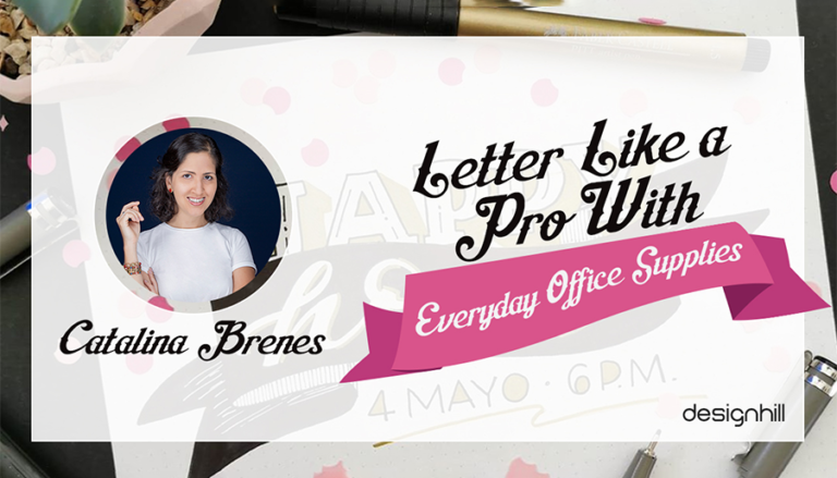 Create Letters Like A Pro With Everyday Office Supplies - Catalina Brenes