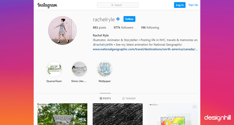 Rachel Ryle Instagram Account