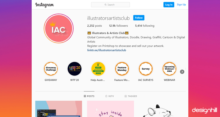 Illustrators & Artists Club Instagram Account