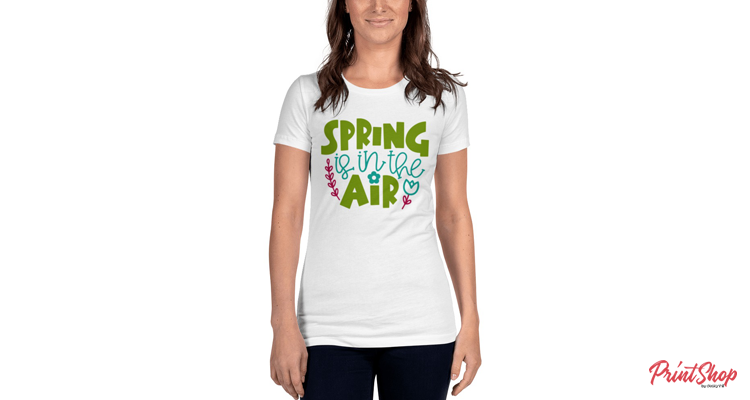 Spring is in the Air Women's Fitted T-Shirt