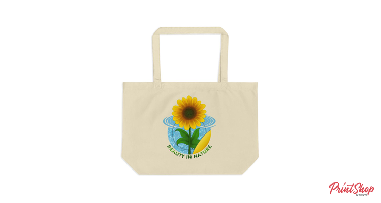 Beauty in Nature Organic Cotton Large Tote