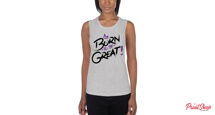 Born To Be Great Women's Flowy Tank Top