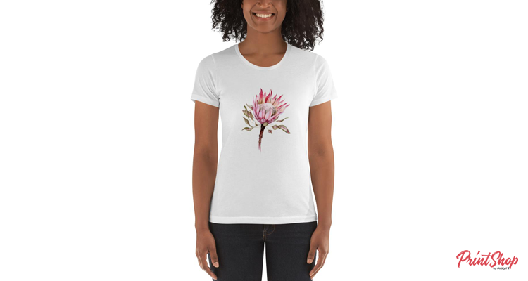 Botanical illustration protea flower Women's Boyfriend T-Shirt