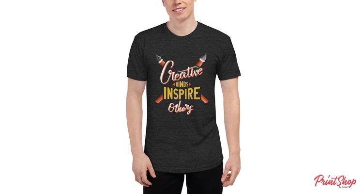 Creative minds inspire others Unisex Tri-Blend Short Sleeve T-Shirt