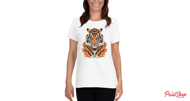 Cute Tiger Women T-Shirt