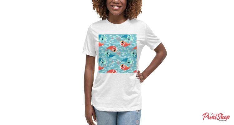 Dual Koi Women's Relaxed Short Sleeve T-shirt
