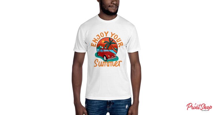 Enjoy Your Summer Men's 50-50 T-Shirt