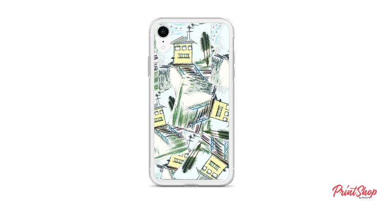 Houses fantasy design iPhone case