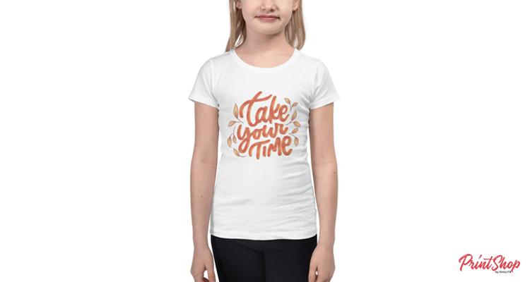 Take Your Time Kids t-shirt