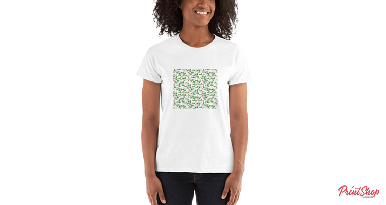 Water-color Print Women's Ultra Cotton T-shirt