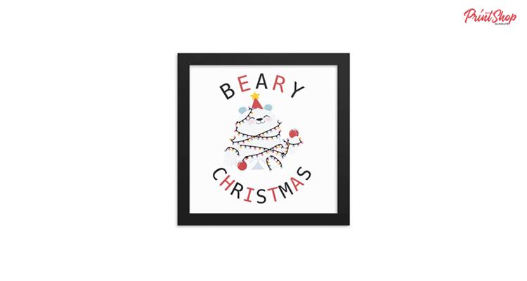 Beary Christmas Framed Poster