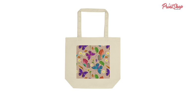 Beautiful Butterfly! Organic Cotton Tote Bag