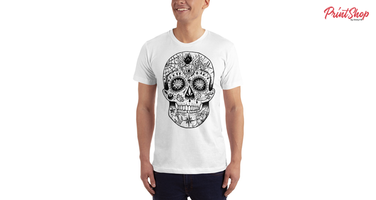 Calavera Skull Unisex Premium Jersey T-shirt