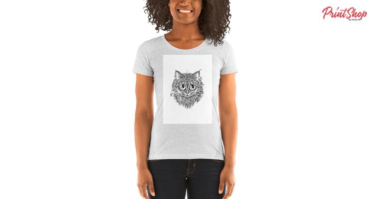 Cat Women's Triblend Short Sleeve T-shirt