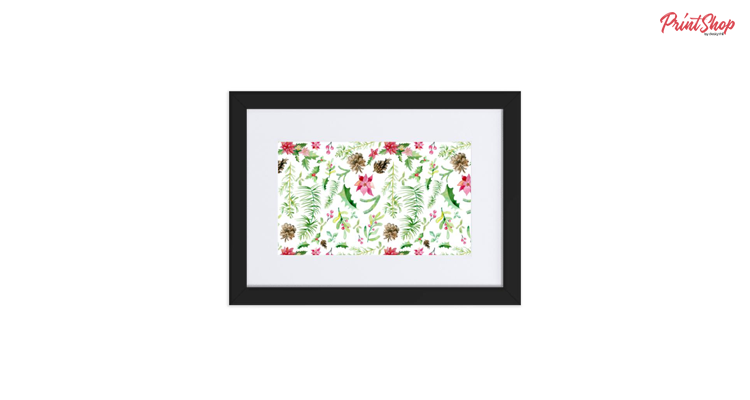 Christmas Branches Framed Poster