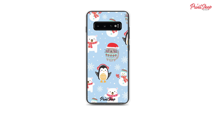Christmas for kids Clear Samsung Case