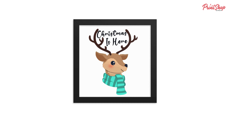 Christmas is Here Enhanced Matte Paper Framed Poster