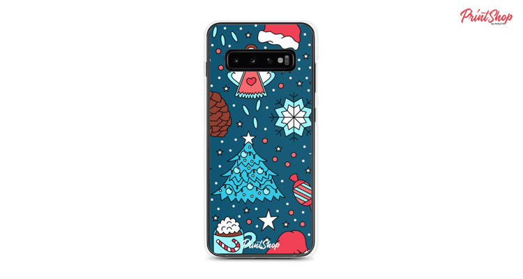 Christmas pattern Clear Samsung Case