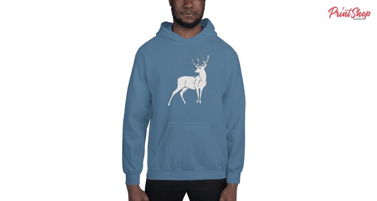 Deer Unisex Heavy Blend Hoodie