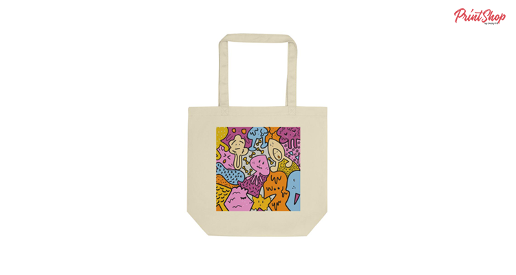 Doodle Organic Cotton Tote Bag