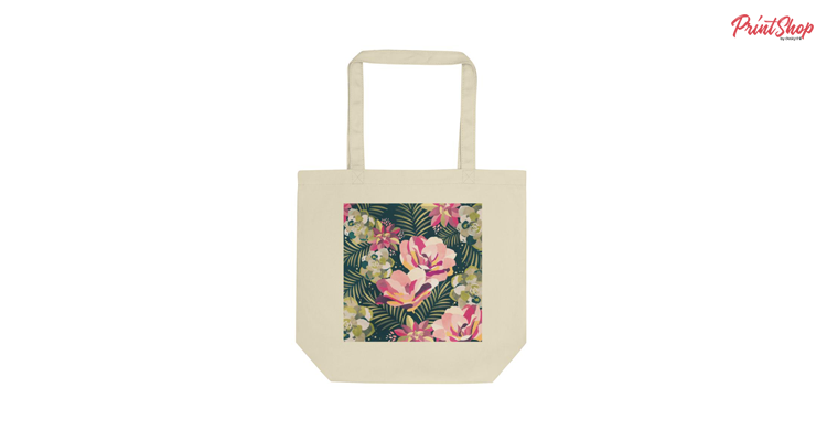 Floral Dreams Organic Cotton Tote Bag