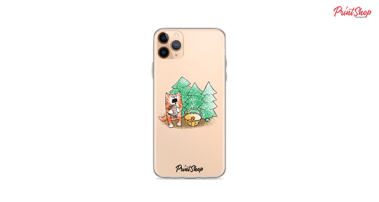 Ginger cat Clear iPhone Case