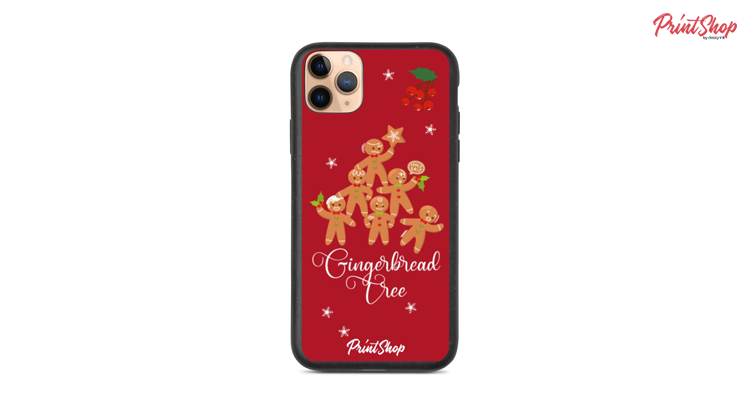 Gingerbread Tree Eco iPhone Case