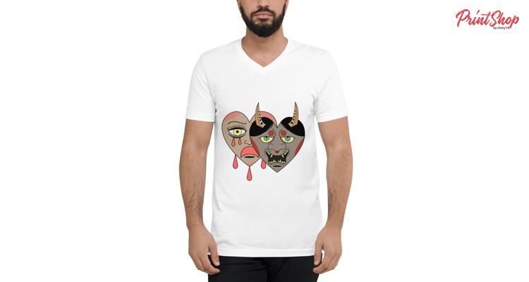 Good and Evil Unisex V-Neck T-Shirt