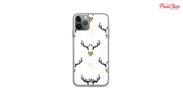 Here I come reindeer! Clear iPhone Case
