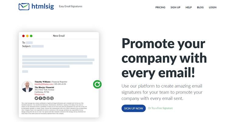 HTML signature generator