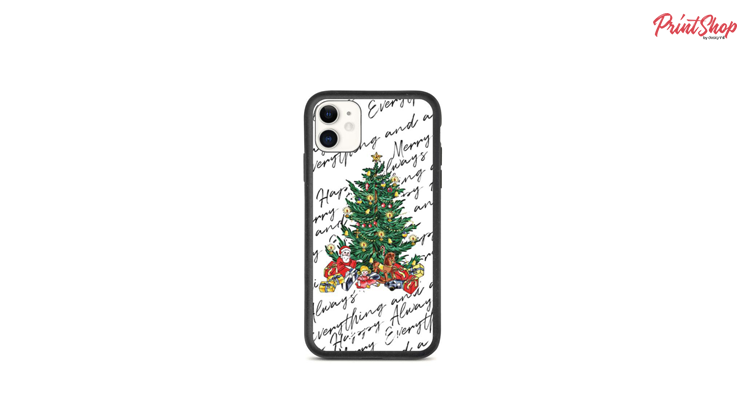 Merry Everything and Happy Always Eco iPhone Case