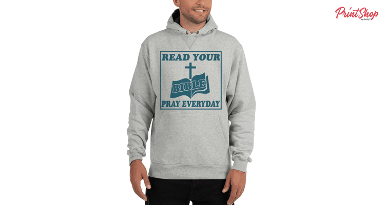 Read Your Bible Men's Cotton Max Hoodie