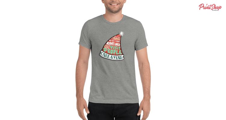 Santa Unisex Tri-Blend T-Shirt