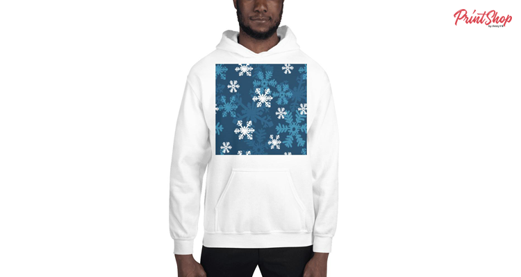 Snowflakes at Midnight Unisex Heavy Blend Hoodie