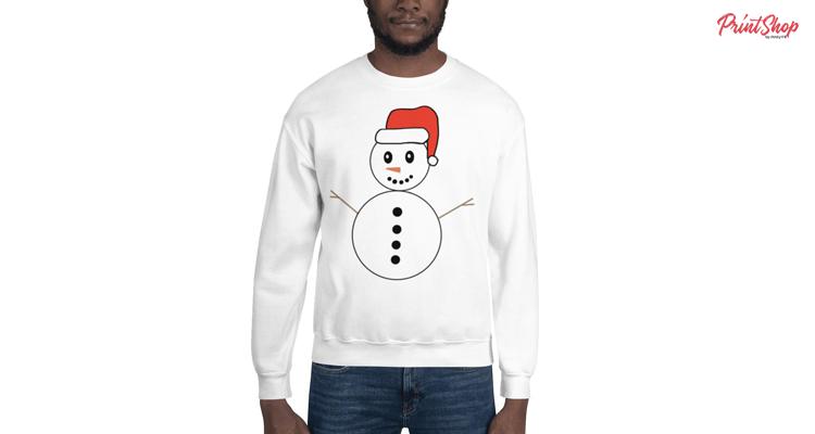 Snowman T-Shirt Unisex Crewneck Sweatshirt